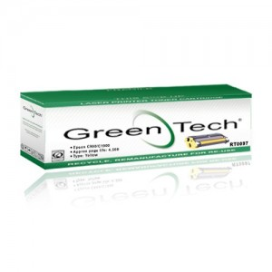 GreenTech RT0097 remanufactured Epson S050097 yellow laser toner cartridges