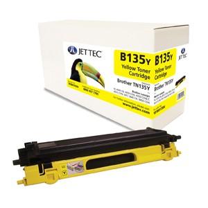 Jet Tec B135Y remanufactured Brother TN 135Y laser toner cartridges
