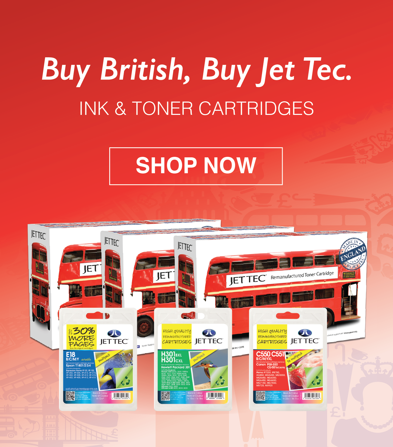 Buy British, Buy Jet Tec printer cartridges!